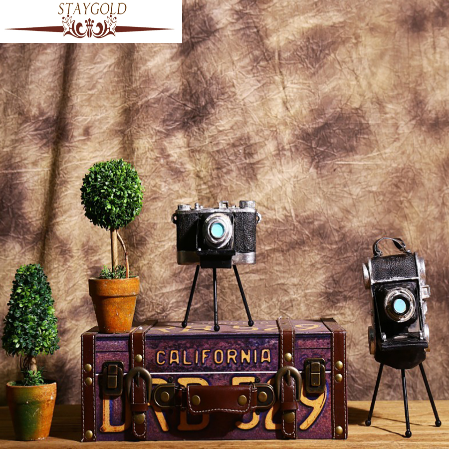 STAYGOLD Vintage Home Decor Retro Tripod Camera Decoration Crafts Home Decoration Accessories Enfeites Para Casa Resin Crafts image