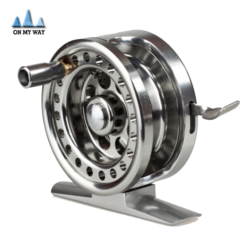 New all metal machined aluminum fly fishing reel 50mm 4 for Left handed fishing reels