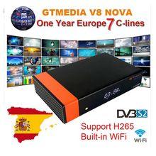 Récepteur GTMedia V8 Nova Full HD DVB-S2 récepteur Satellite 1 an Europe Cccam Cline Freesat V9 Super mise à niveau de Freesat V8