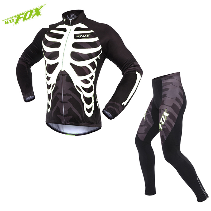 BATFOX Autumn winter cycling suit Unisex Cycling Sets long sleeved Warm clothes Mountain Bicycle Bike Cycling Clothing ckahsbi winter long sleeve men uv protect cycling jerseys suit mountain bike quick dry breathable riding pants new clothing sets