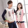 Autumn/ Winter Totoro Couple Pajama Sets Adult Onesie Pyjamas Simple Men and women Pajamas Suit Long-sleeved Home Service