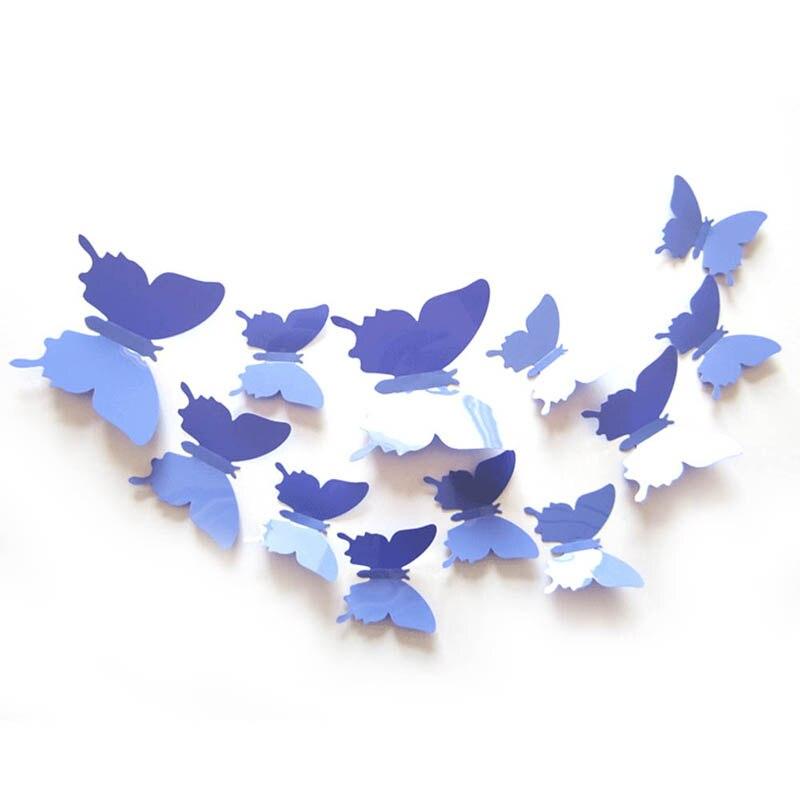 12 unids PVC 3d Mariposa decoración de la pared lindo Mariposas pegatinas de par