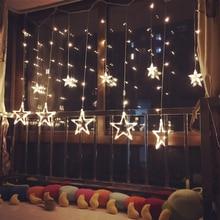 3 M/2.5 M led sincelo luzes de natal de fadas twinkle flash estrela guirlanda cortina loja do feriado festa luz de natal decoração do casamento
