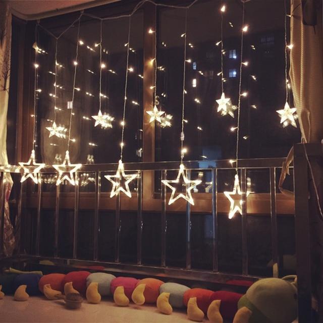 Us 12 4 27 Off 3 M 2 5 M Led Twinkle Kerstverlichting Fairy Ijspegel Flash Guirlande Ster Gordijn Licht Party Vakantie Winkel Xmas Bruiloft