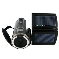 16Mp Max 720 P HD Solar Digitale Video Camera met 8x Digitale Zoom en Oplaadbare Lithium Batterij, gratis Verzending