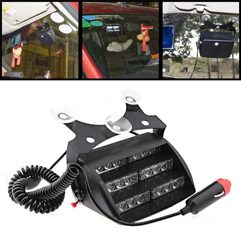 18 Led Car Flash Light Windshield Emergency Caution Light DRL Daytime Warning Fog Lamp Beacon Strobe Hazard Fog Light Lamp 12V