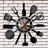 Creative Vinyl Wall Clock Modern Design Kitchen Time Clocks Black 3D Decorative Vintage Classic CD Record