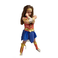 Kids Girls Superhero Wonder Woman Costume Deluxe Child Dawn Of Justice Party Costumes Halloween Cosplay For
