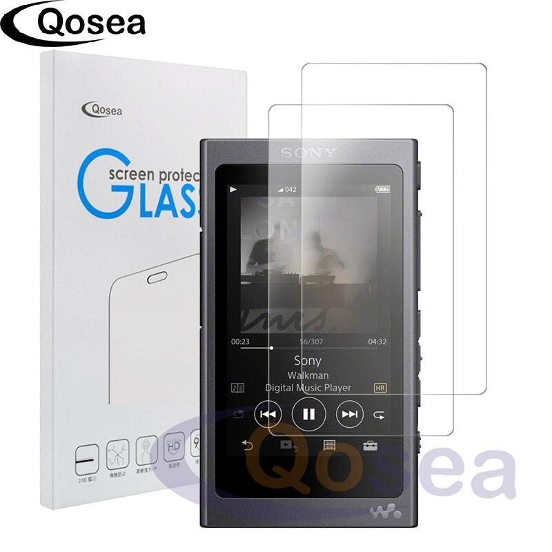 Qosea (2 PACK) pour Sony Walkman NW-A40 Écran Protecteur 9 H Ultra Clair Pour Sony NW-A45 A35 A47 De Protection En Verre Trempé Film