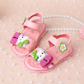 girls sandals with light  2016 new summer cartoon bow fashion girls shoes sandals child flower diamond led kids shoes sneaker