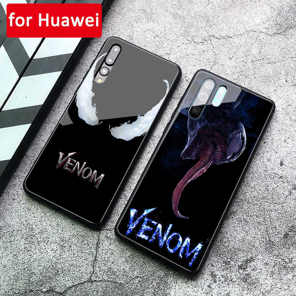 Case For Huawei P20 Pro Tempered Glass Cover Venom for Huawei Mate 9 10 20 Pro P10 P20 Pro Lite Note 10 Honor Play v9 v10