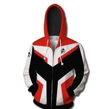 2019 nueva película vengadores final sudadera chaqueta de tecnología avanzada Sudadera con capucha trajes de Cosplay