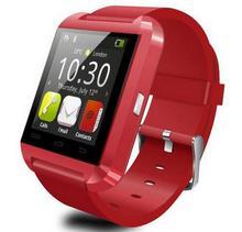 Bluetooth Smartwatch MU8, für Android und ios Smartphones, Musik-player, niedriger preis aber hohe Qualität, Black & Red & White