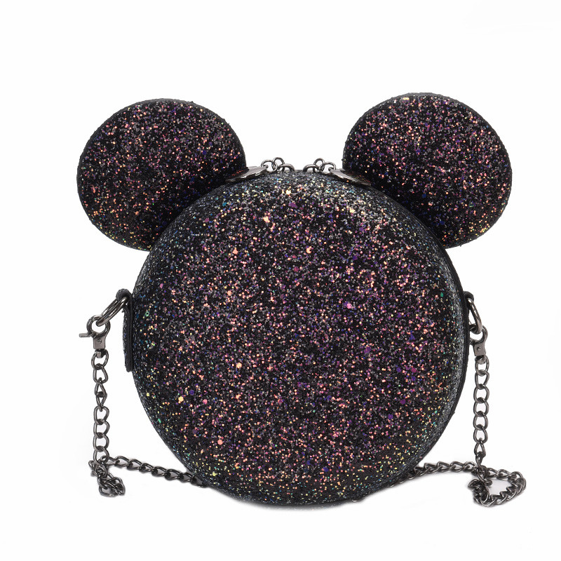 Sequin Fashion Design Women Mickey Shaped Bag Cute Funny Women Evening Bag Clutch Purse Chain Shoulder Bag for Birthday GiftSequin Fashion Design Women Mickey Shaped Bag Cute Funny Women Evening Bag Clutch Purse Chain Shoulder Bag for Birthday Gift