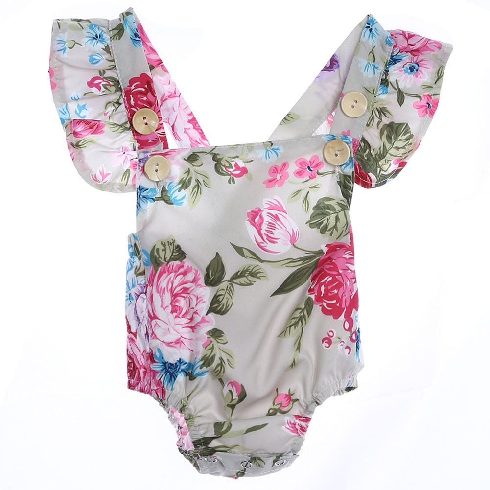 Newborn Clothes Baby Romper Floral Printing Jumpsuit Baby Girl Costume for Girls Baby Summer Clothing Baby Infant Romper