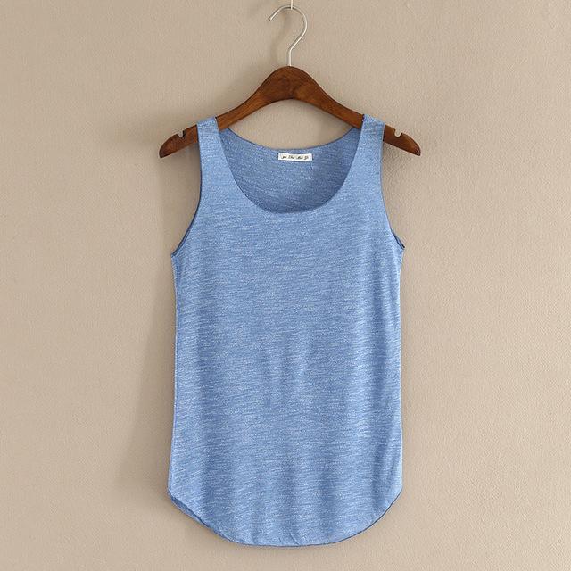 Spring Summer New Tank Tops Women Sleeveless Round Neck Loose Blouses Ladies Shirts Vest Singlets