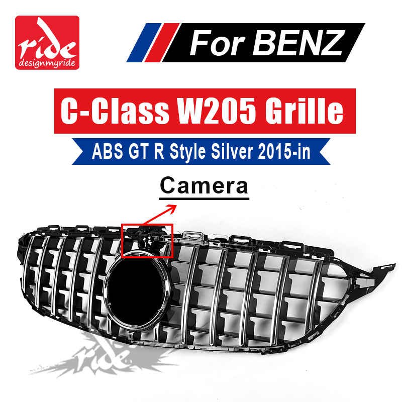 Without central Logo Front grille For Mercedes Benz C class W205 C180 C200 C250 ABS GTR