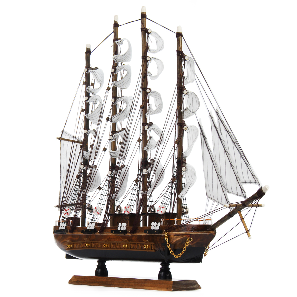 New 50cm Wood Crafts Desk Ornaments Office Shop Club Decoration Kits Classical 50cm Wooden Sailing Boat Ship Model Home DecorNew 50cm Wood Crafts Desk Ornaments Office Shop Club Decoration Kits Classical 50cm Wooden Sailing Boat Ship Model Home Decor