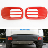 1Pair Steel Rear Red Fog Light Lamp Hood Cover Trim Protection Decoration Styling Mouldings For 2015-2016 Renegade Car-Covers