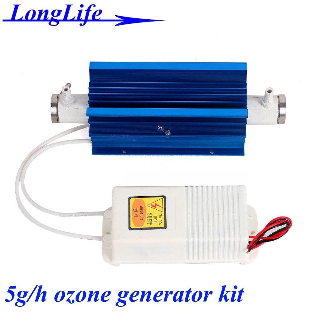 LF-1105QSMT, AC220V/AC110V 5g/h 5gram 5g-8.4g/h ozonator Quartz tube type ozone generator Kit car 5g ozone air purifier home