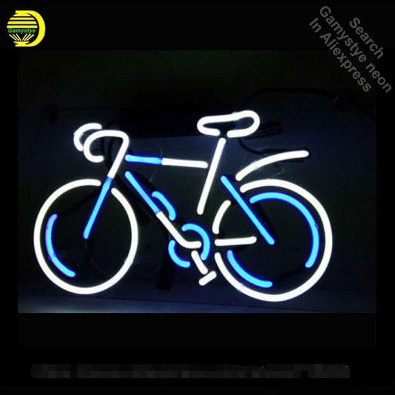 Néon Signe BICYLE Verre Tubes Lampes Ampoule Au Néon Enseigne enseignes lumineuses custom made néon électronique néon lumière avec cadre en métal