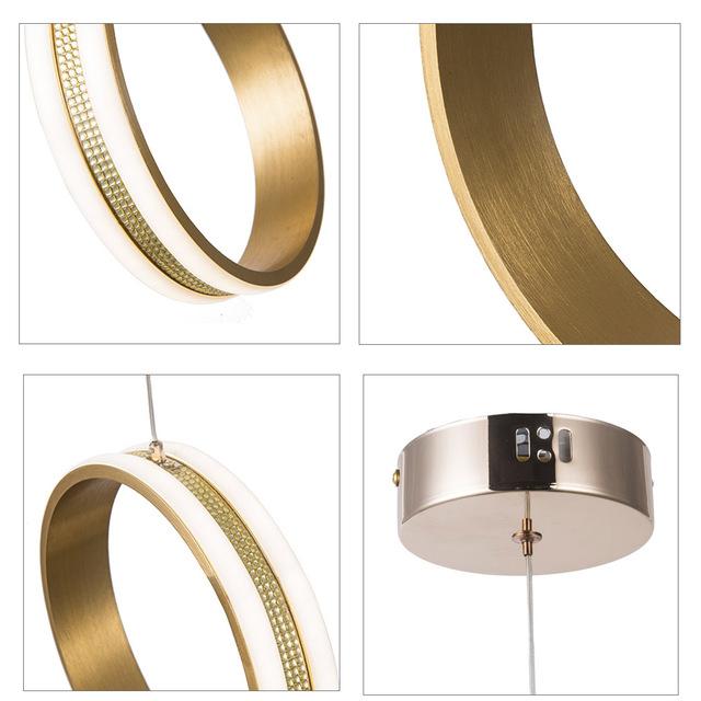 Gold Lustre Led Crystal Chandelier Lights