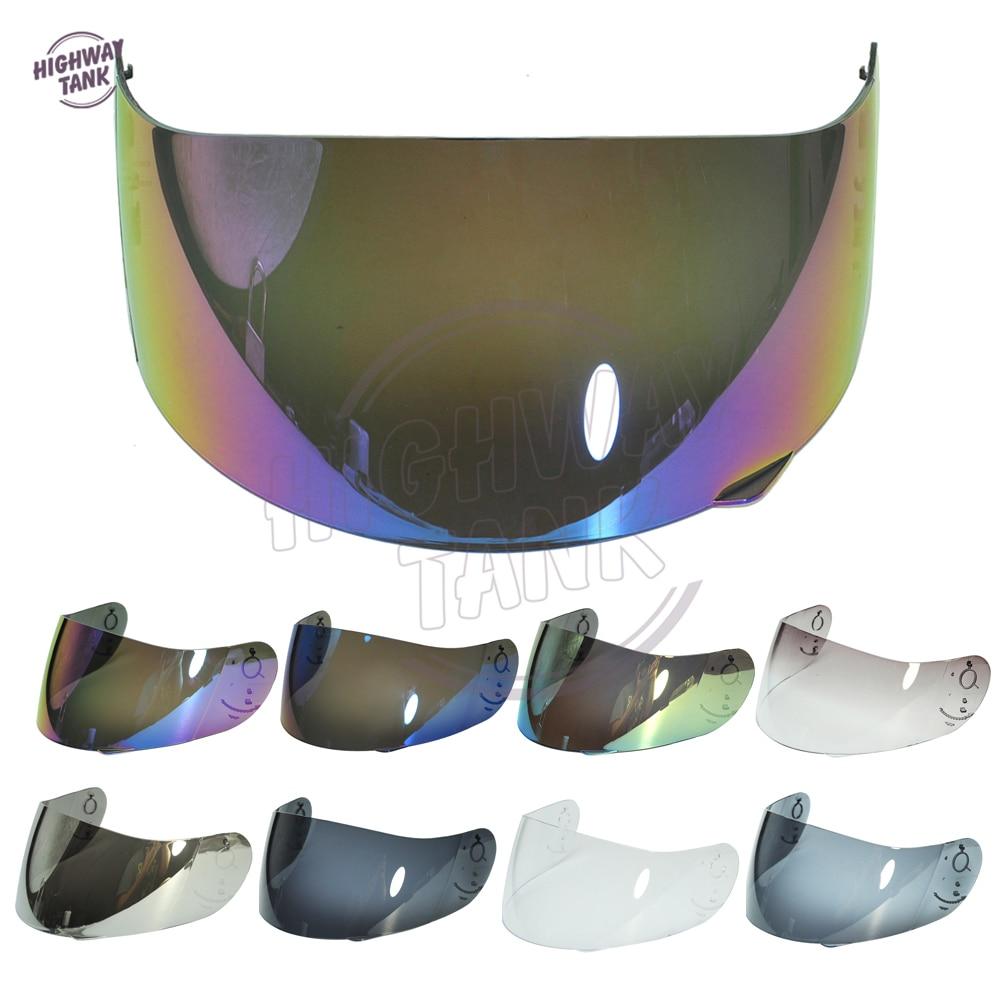 8 colores, motocicleta, casco integral, visera, estuche para AGV GP-Pro S4 Airtech Stealth Q3 Titec con azul / oro / humo / iridio