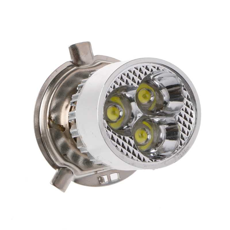 1 Pc Universal DC 12-80V H4 3 LED Motorcycle Headlight Bulb Hi/Lo Scooter Lamp ATV Fog Light High Quality
