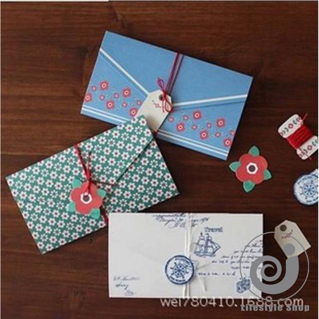 4 Pcslot Vintage Floral Folding Greeting Card Thank You Card