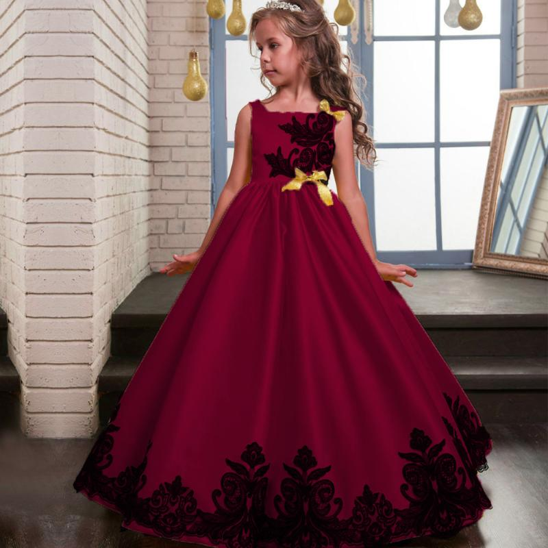 где купить Baby Girls Flower sequins Dress Kids Girl Formal Occasion Bridesmaid Party Event Wedding Flower Dress Gown Princess Formal Dress по лучшей цене