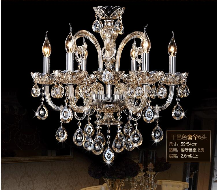 New Free Shipping Big Lustres Chandelier 100% K9 Crystal Luxury Large - Ներքին լուսավորություն - Լուսանկար 6