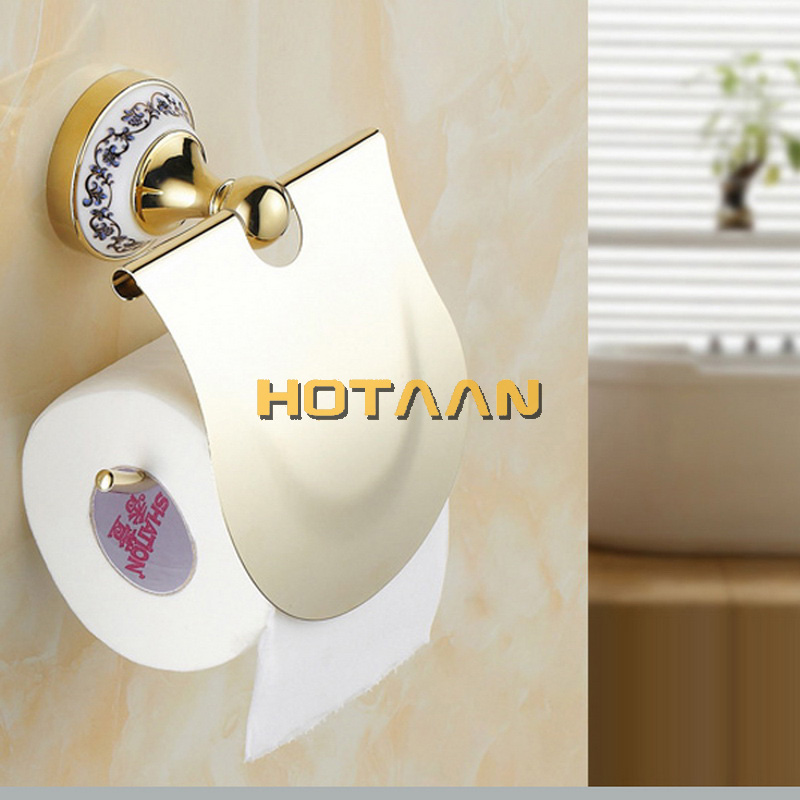 Free shipping,Stainless Steel + ceramic Bathroom Accessories ,Paper Holder,Towel Bar,Towel ring,bathroom sets,YT 11800G A-in Bath Hardware Sets from Home Improvement    3
