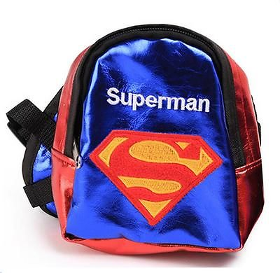 Backpack for Dogs bag Carrier Superman Dog Pet Backpack Snack Puppy Bag S M L