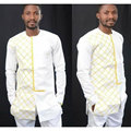 2017 African Dresses Rushed Hot Style Restoring Ancient Ways Of Grid Printing Round Neck Long Sleeve Shirt Money Men's Clothing