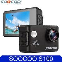 Original SOOCOO S100 4 K 24fps 2 K 30fps Wifi 20MP Impermeable 30 m Gyro Mini Se Divierte la Cámara DV Soporte GPS Extendido módulo