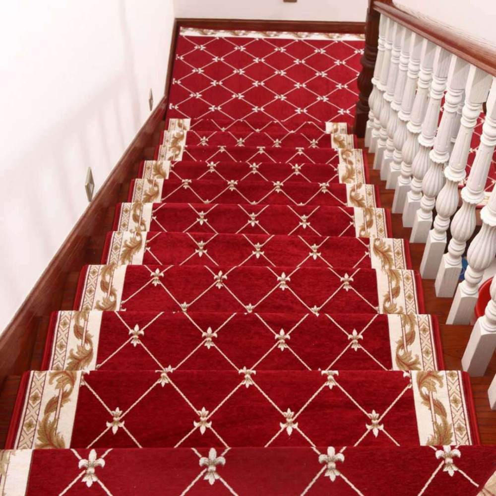 beibehang Upscale European Dornier stair tread mats glue-free self-adhesive non-slip footrest corridor carpet living room mats