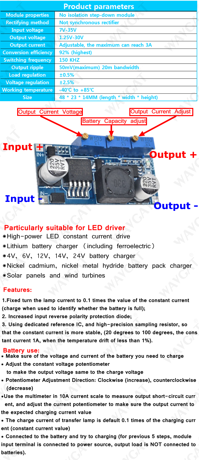 Free Shipping 1pcs LM2596 LM2596S DC-DC 4 5-40V adjustable step-down power  Supply module NEW ,High Quality
