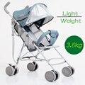 2016 Novo design de Luxo cadeira de rodas 3 cores quatro rodas luz carrinho de bebê carrinho de bebê carrinho de bebê assento único