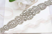 MissRDress Crystal Rhinestones Riem Wedding Belt Feminine Bridal Sash Luxe Kralen Wedding Sash Riemen YS828