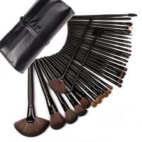 32 Pcs Set High Quality Black Professional Cosmetic Makeup Brush Set Upscale Wool Fiber Horse Hair