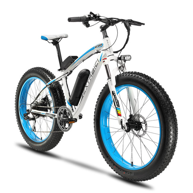 Extrbici XF660 4.0 Fat Tire Cruiser Electric Bike 500Watt 48V 10.4ah Lithium Battery cycling bike with smart odometer