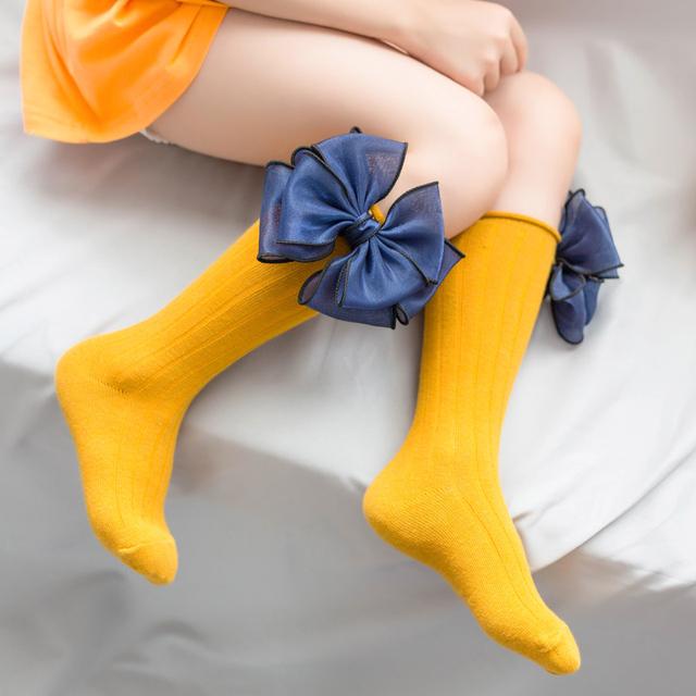 Knee High Socks with Big Bow