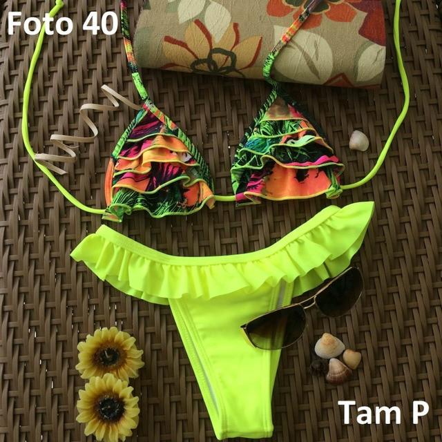 bikinis brasileiros 2016 brazilian Sexy bikini bottoms Swimwear Tassel Lines Thong Bottom Padded Top push up swimsuit