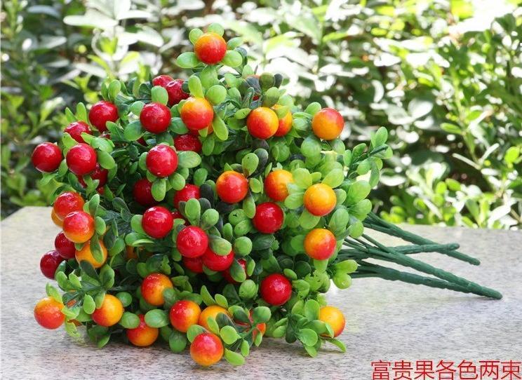 Acheter Décorations de noël avec little red fruits et de bon augure de christmas fruit decoration fiable fournisseurs