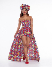 Robe Africaine Hot Sale Polyester African Women Clothing The New 2017 Chiffon Milk Strapless Dresses Even Divided Skirts Sc090