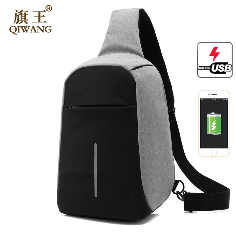 OZUKO Anti theft Crossbody Bags for Men Messenger Chest Bag Pack Casual Bag Waterproof Canvas Single Shoulder Strap Pack