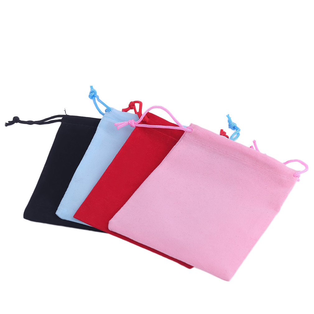 20pcs/Set Beautiful Velvet Gift Jewelry Drawstring Pouch Bag Christmas Wedding Gift Storage Bags Organizer 12*10cm