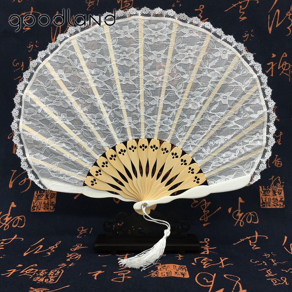 Free Shipping 1pcs Pink White Fashion Vintage Spanish Bamboo Carved Lace Hand Fan Women Girl Dancing Fan Wedding Christmas Party