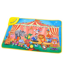hot education Kids Baby Zoo Animal Musical Touch Play Singing Carpet Mat Toy