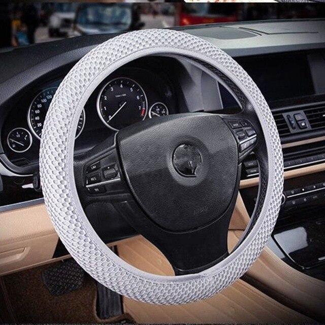 Housse de volant de voiture tressée sur volant, avec aiguilles et tissu en maille de diamètre 36-38cm, accessoires automobiles #266320, nouveau